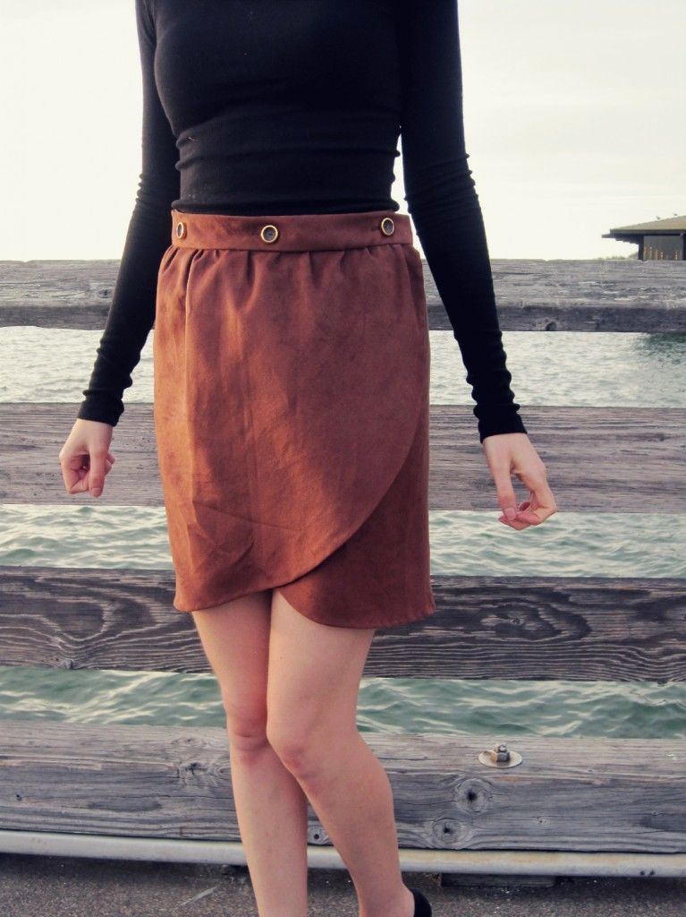 FREE tulip wrap skirt tutorial | Sewing for Adults | Pinterest ...