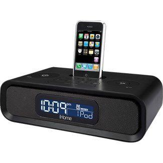 iHome iP97 AM/FM Dual Alarm Clock Radio for iPhone and iPod - Black