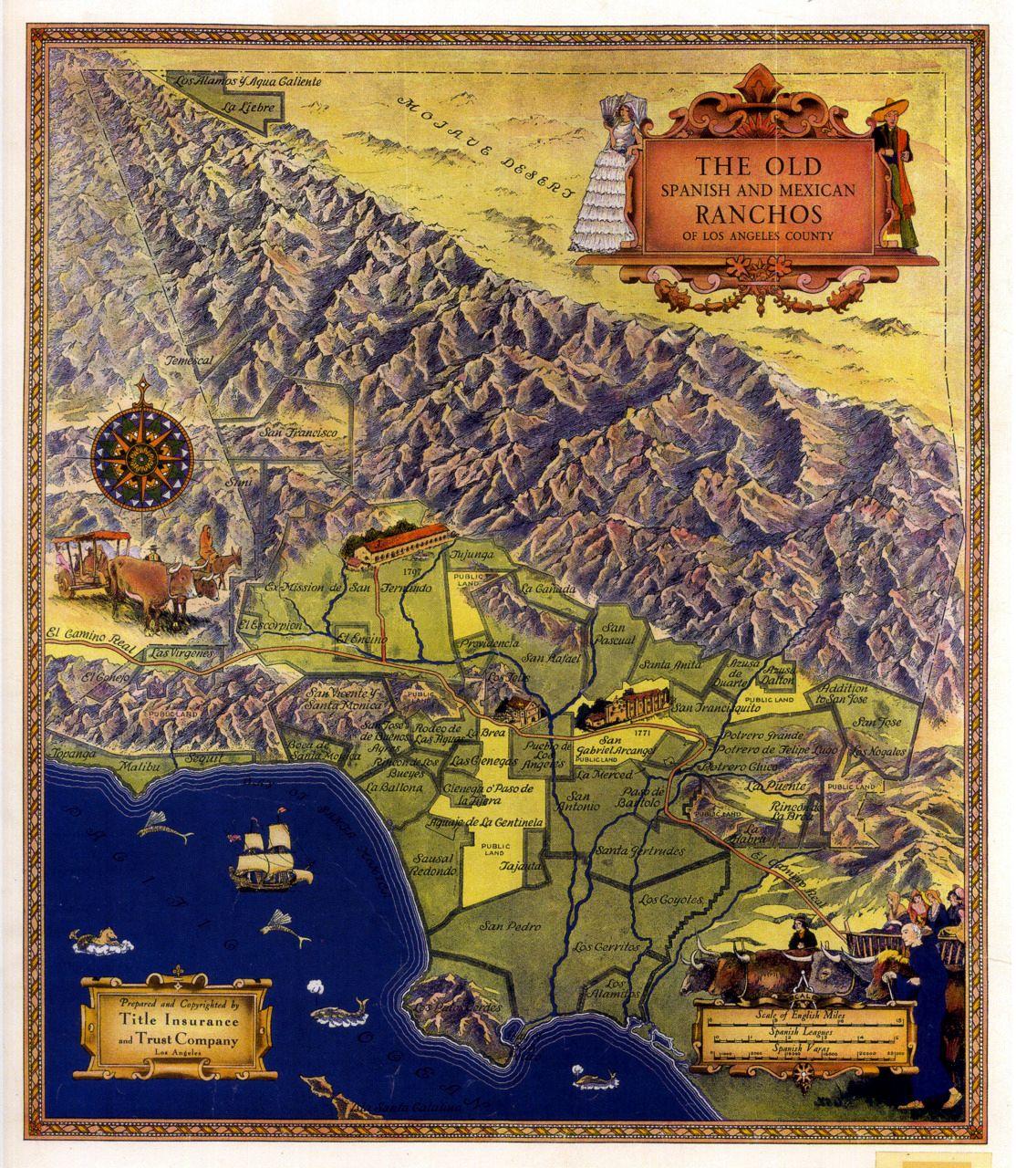 Gabrielino Tongva Panoramic Map Modern Map Los Angeles Map
