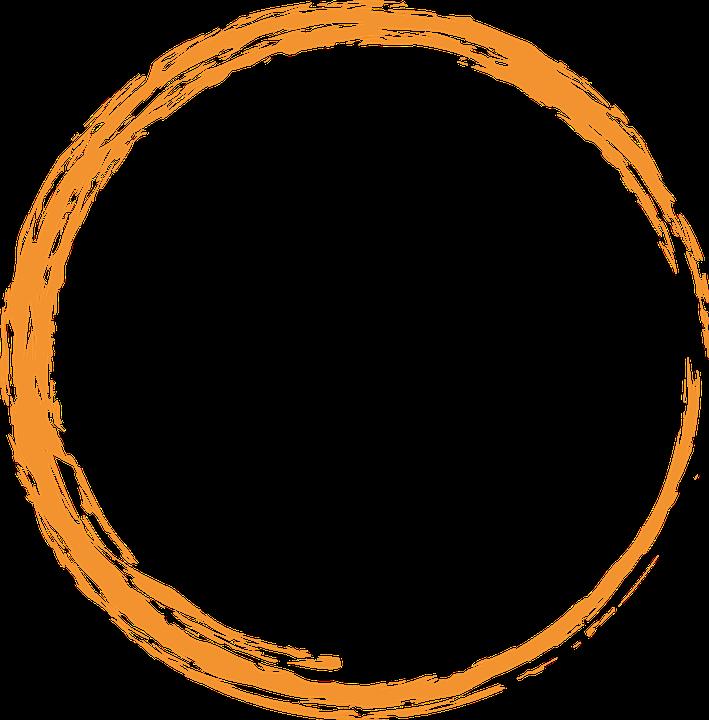 Free Image on Pixabay - Orange, Round, Circle, Paint