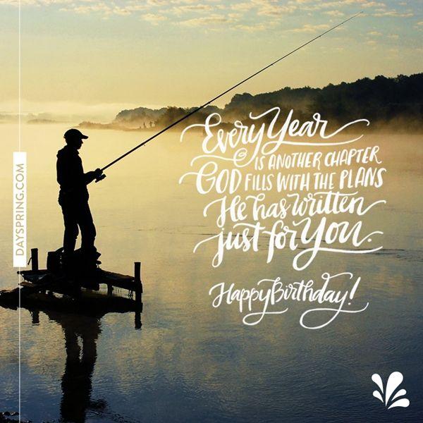 Wishes Men Birthday Happy Fishing