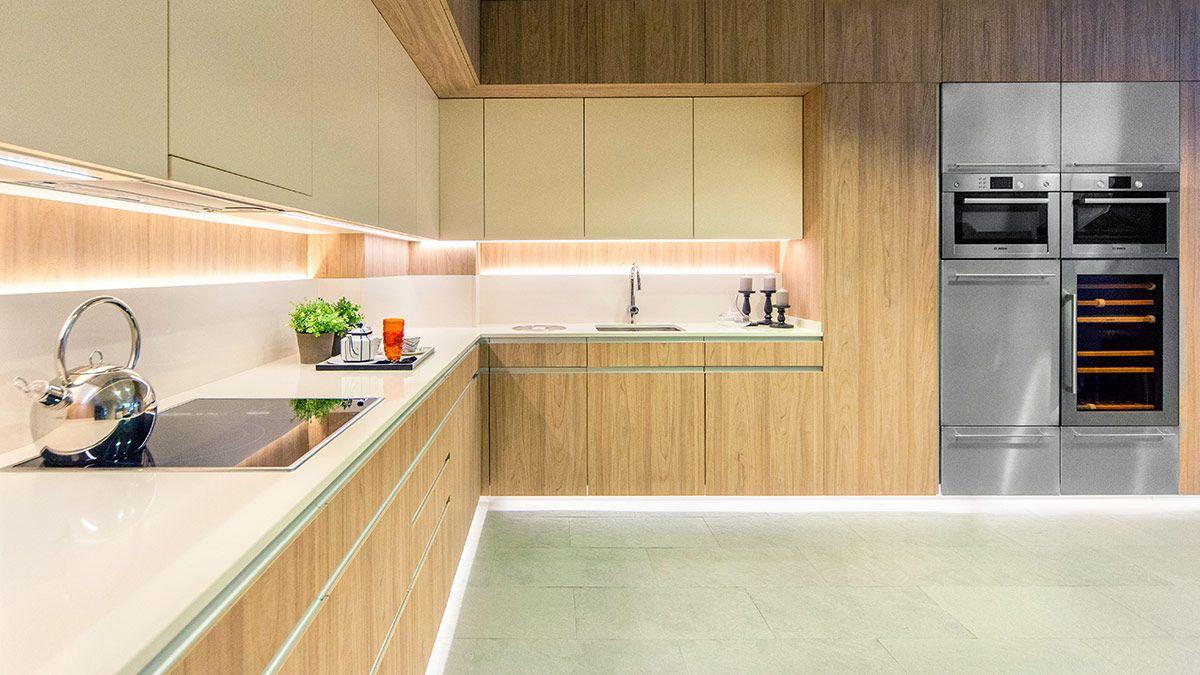 Cocina blanca y madera Serie Köln - muebles de cocina en Madrid ...