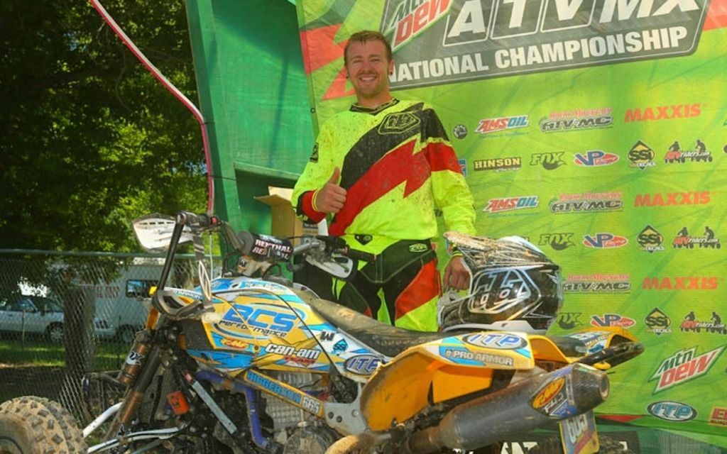 CAN-AM DS 450 PRO JOEL HETRICK SECOND AT MILLVILLE - Photo Gallery - ATV Trail Rider