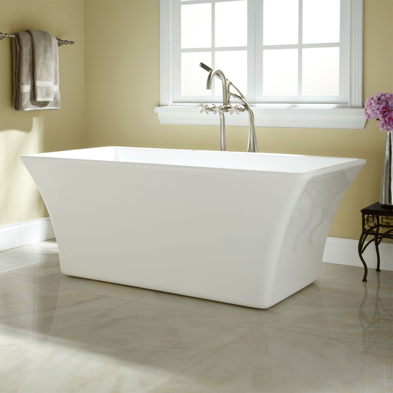 Draque Acrylic Freestanding Tub | Acrylic tub, Tubs and Faucet