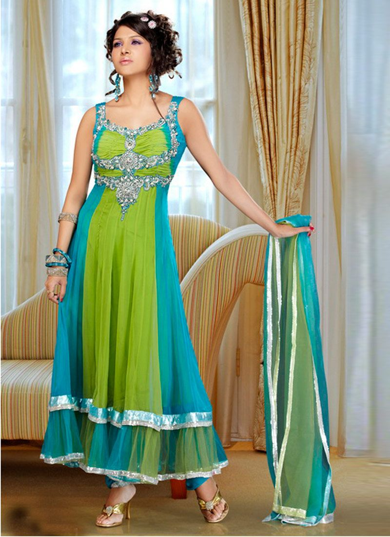 Double shirt dress design - Anarkali Frocks Readymade Indian Anarkali Frocks Anarkali Open Double Shirt Frock