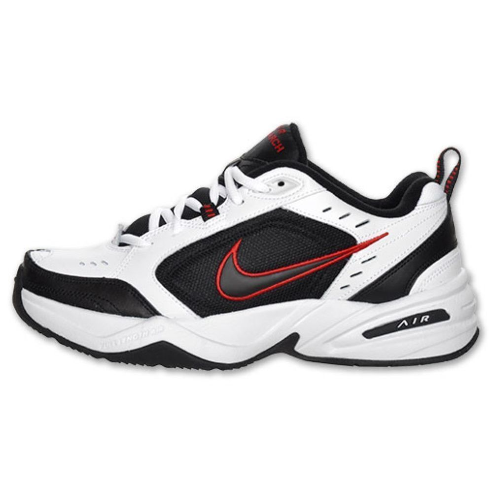 0655c38ad13 NIKE AIR MONARCH IV WHITE BLACK VARSITY RED 4E WIDE 416355 101 MEN ...