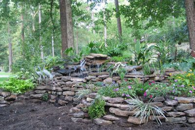 How to build an above ground pond with cinder blocks for How to build a fish pond with a liner