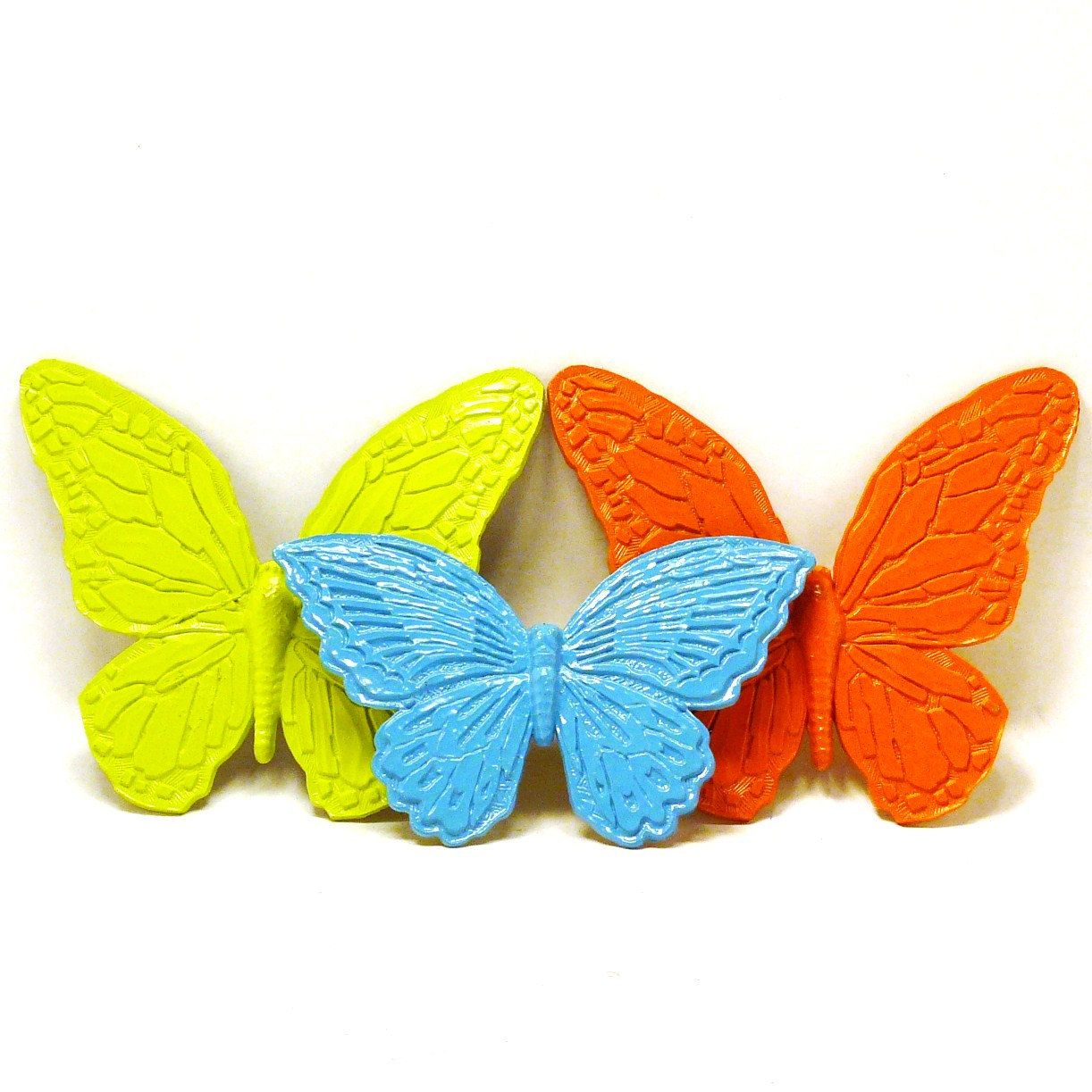 colorful butterfly wall hangings