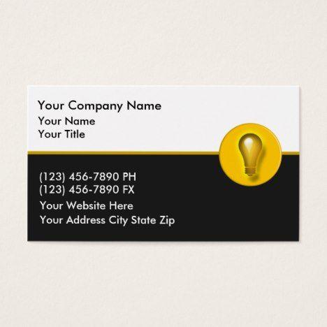Electrician business cards random pins pinterest business business essentials electrician business cards colourmoves