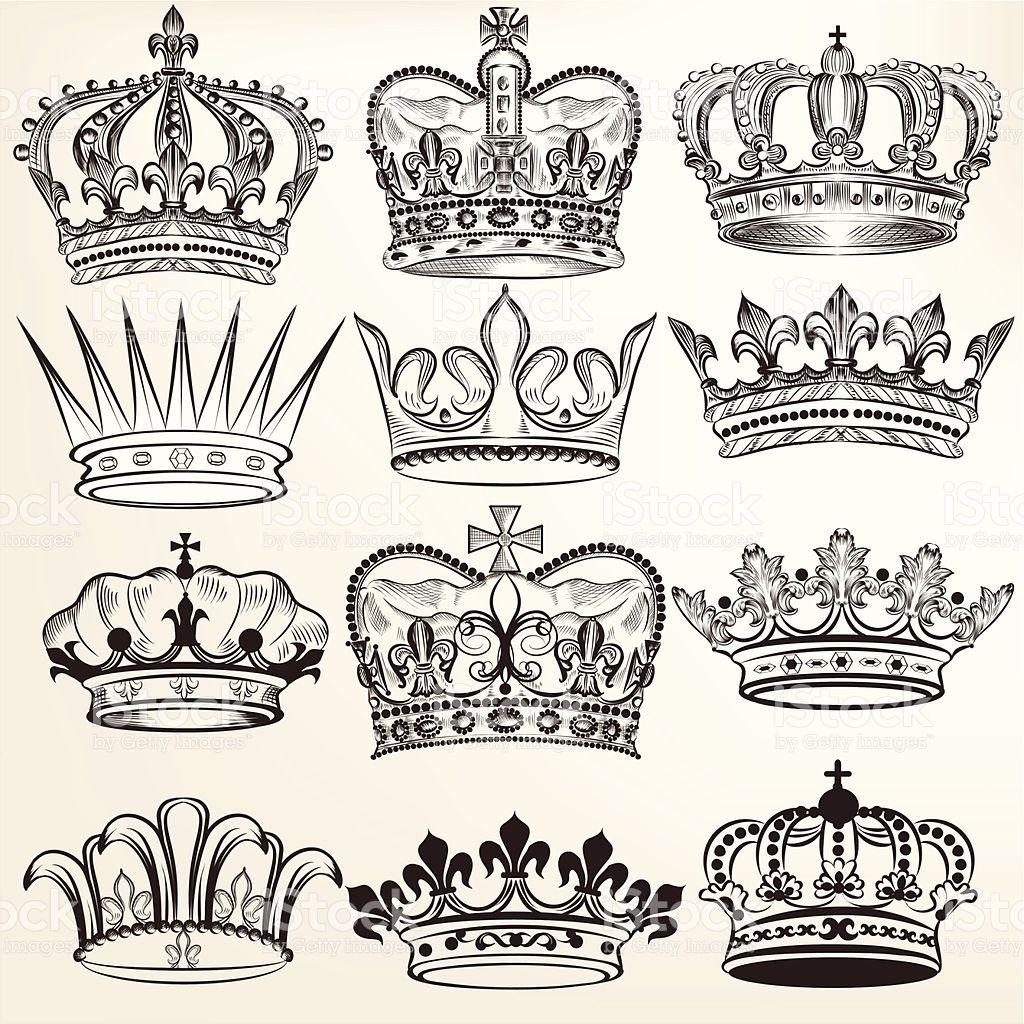 vector set of crowns for your heraldic design crowns pinterest. Black Bedroom Furniture Sets. Home Design Ideas