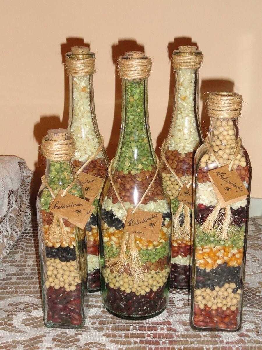 Coro de navidad en botellas de vino y champagne buscar - Botellas de vino decoradas ...