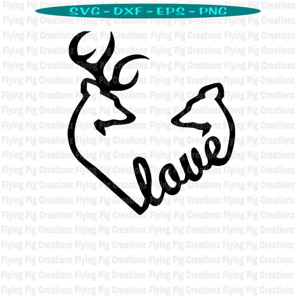 Download Deer svg, Kissing Deer svg, Deer Kissing svg, Buck and Doe ...