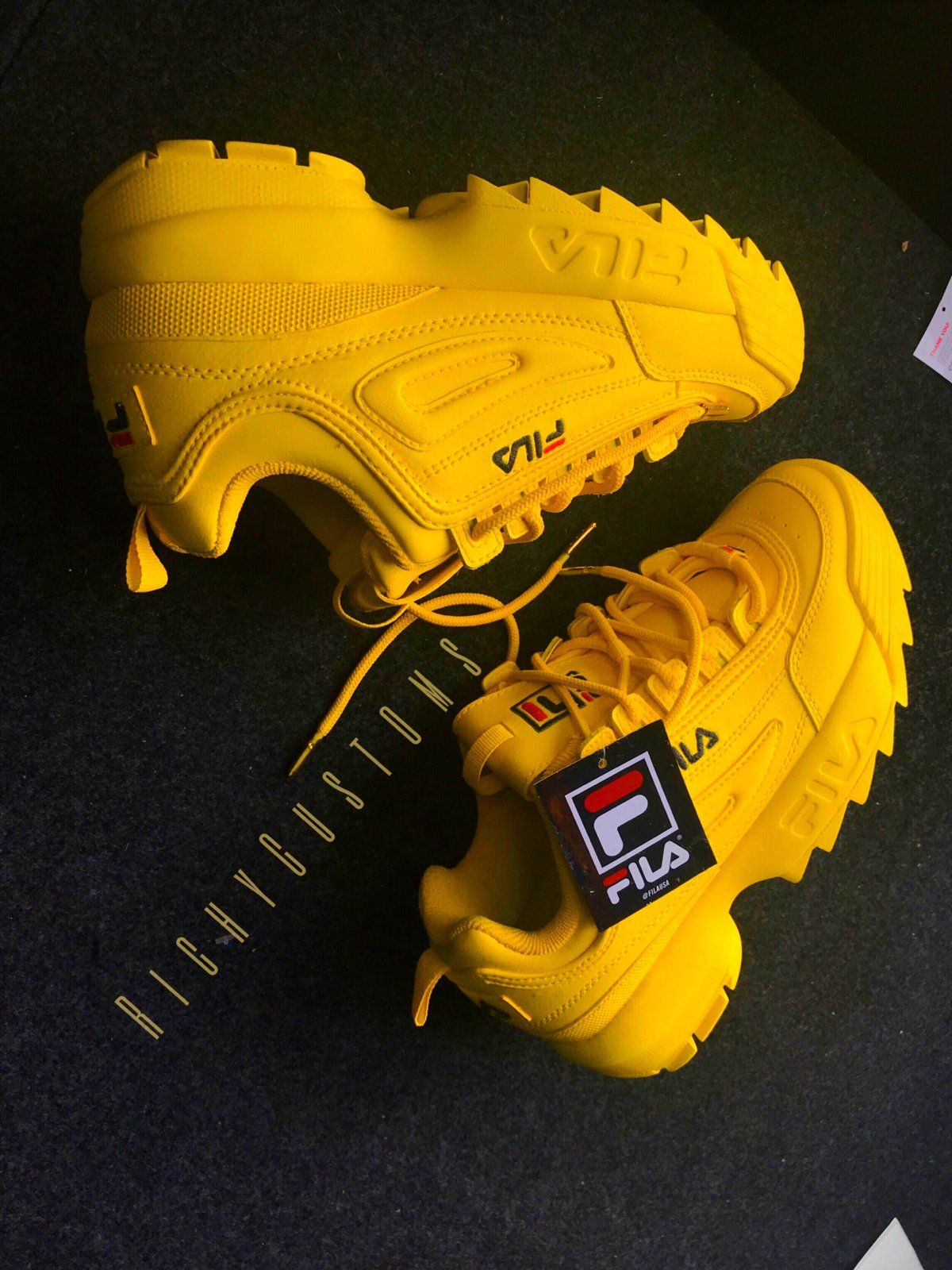 wyprzedaż w sklepie wyprzedażowym świetne dopasowanie najtańszy SUN YELLOW FILA DISRUPTOR II 💛*If you want another color ...