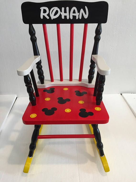 Fantastic Child Size Custom Painted Wood Rocking Chair Perfect For A Lamtechconsult Wood Chair Design Ideas Lamtechconsultcom