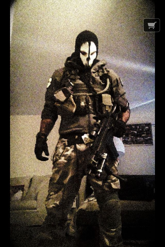 Tactical ghost cosplay