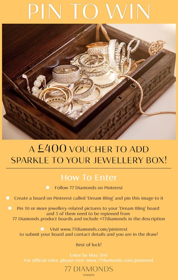 PIN TO WIN - A £400 VOUCHER to add sparkle to your jewellery box - create a voucher