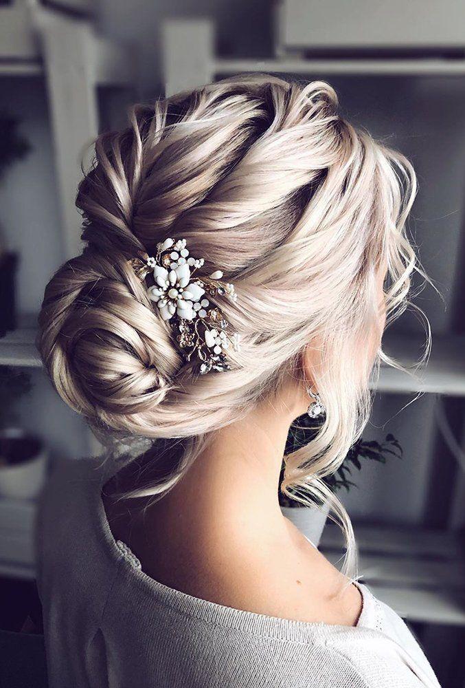 30 Elegant Wedding Hairstyles For Gentle Brides ❤ elegant wedding hairstyles swept blonde updo with accessories shiyan_marina #weddingforward #wedding #bride #weddinghair #elegantweddinghairstyles
