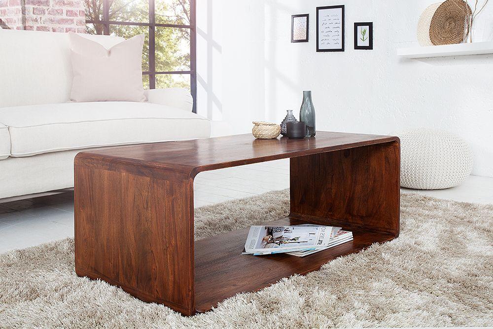 Massiver Cube Couchtisch Monsoon 100cm Akazie Markant Finish Coffee Table Home Decor Decor