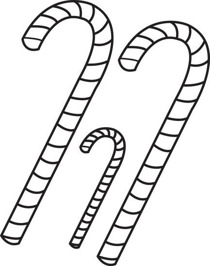 FREE Printable Candy Canes Coloring Page for Kids | Pinterest ...