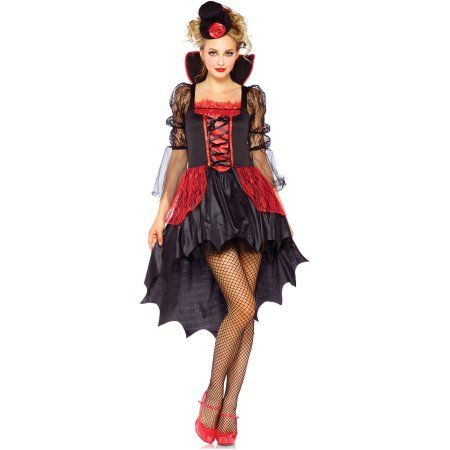 Crimson (Red) Lady Adult Halloween Costume, Size: Large