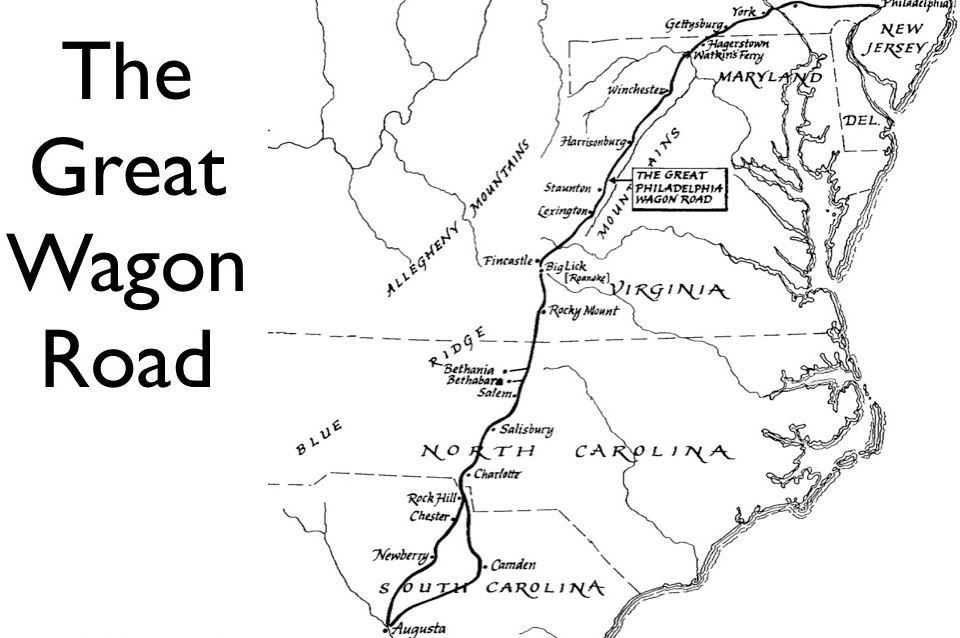The Great Wagon Road Georgia Map Old Maps Greatful