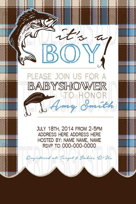 Fishing Baby Shower Invitation Printable By RitterDesignStudio, $16.00