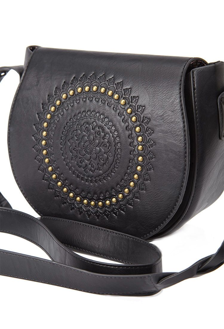 Embossed Faux Leather Crossbody | Forever 21 - 1000132630