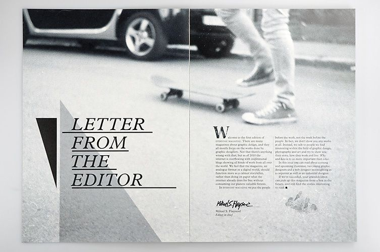 Letter From The Editor  Design    Editor Editorial