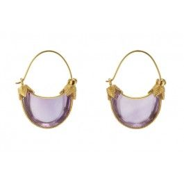 The Met Store Australia Metropolitan Museum Cypriot Amethyst Earrings, 14K