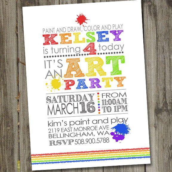 Art Party Invitation Art party invites Art Birthday Party – Art Party Invitation Templates