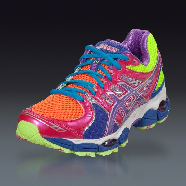 Asics Women's GEL-Nimbus 14 - Light Bright/Grape/Pink Running Shoes |