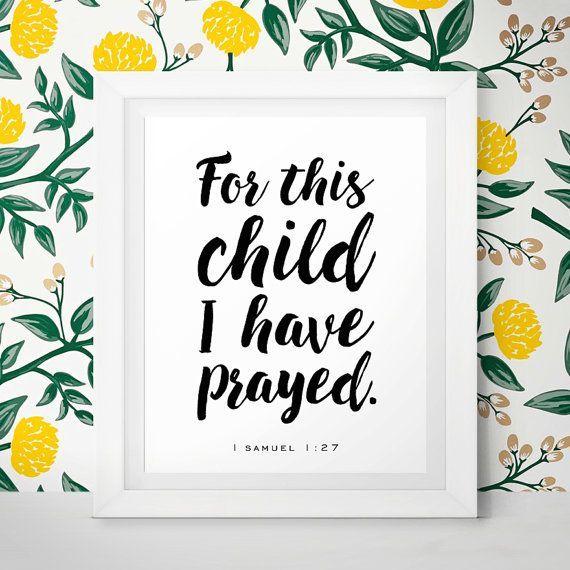 Baby Gift Nursery Bible Verses Nursery Wall Art For By Littlewants ...