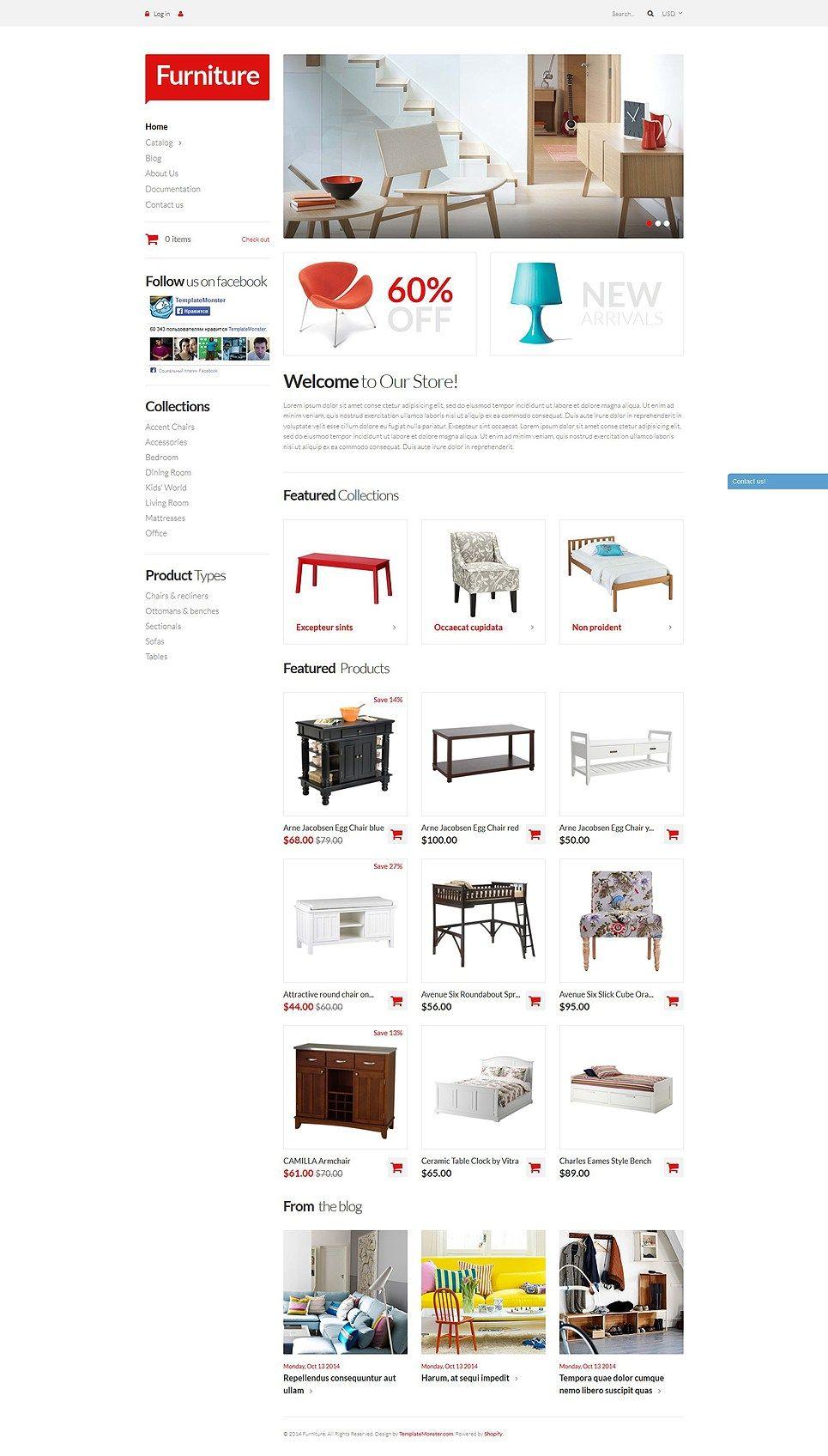 furniture design websites 60 interior. 17+ Furniture, Cookware, Homeware Supplies Ecommerce Store Shopify Themes - Furniture Pieces Design Websites 60 Interior