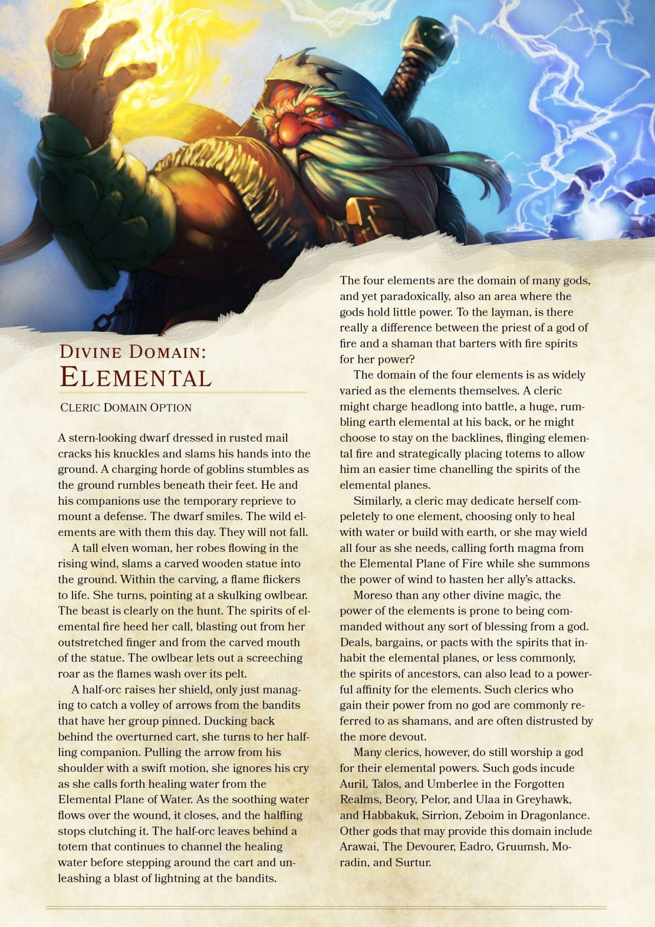 DnD 5e Homebrew — Elemental Domain Cleric by TheNittles | DnD ...