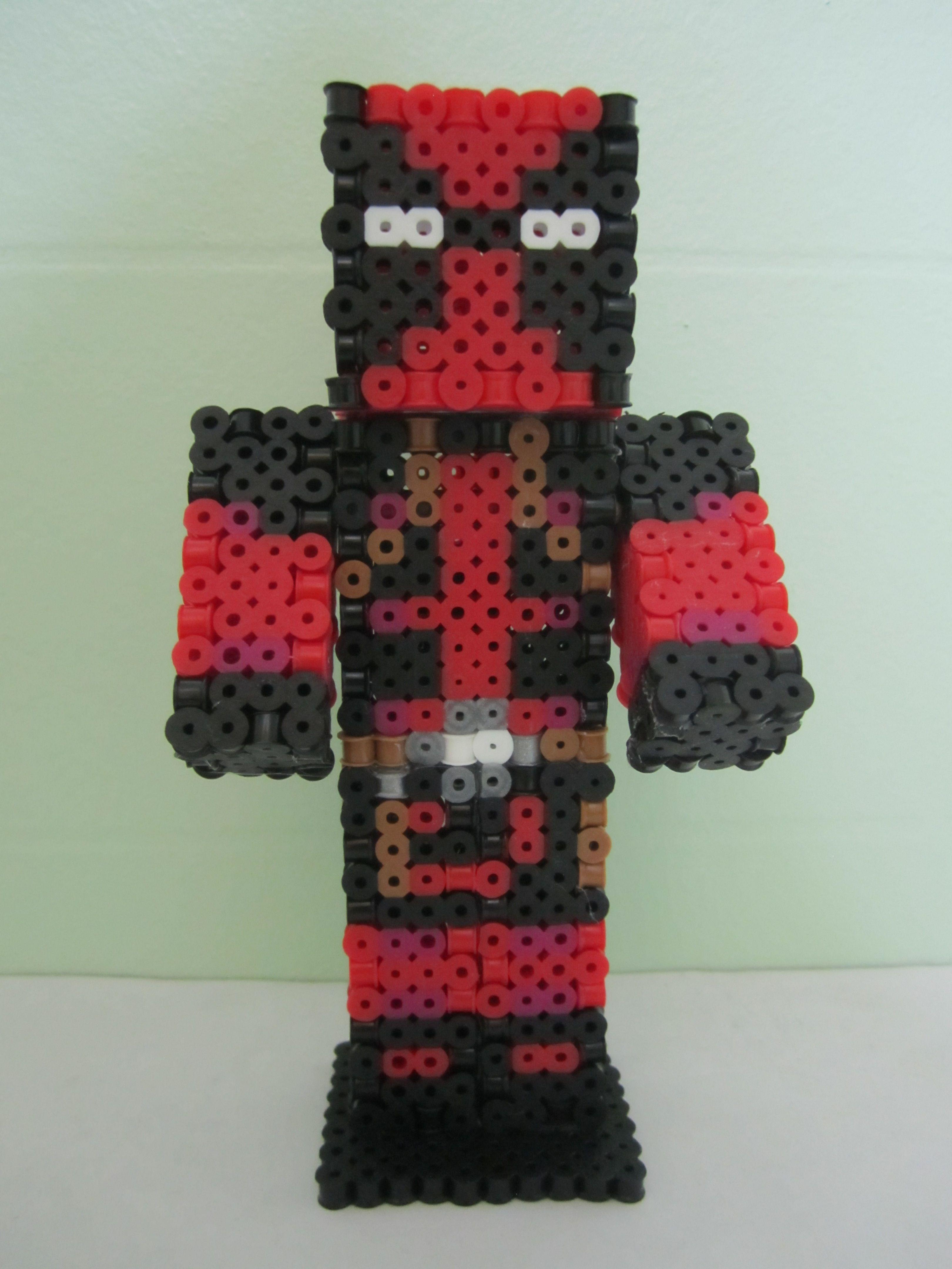 Deadpool Minecraft Skin DPerler Beads Perler Beads Pinterest - Deadpool skins fur minecraft