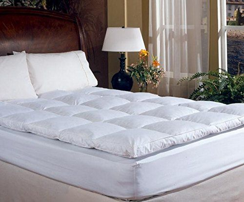 King Size Overstuffed Feather Bed Pillow Top Mattress Top Mattress Mattress Topper Bed Sizes