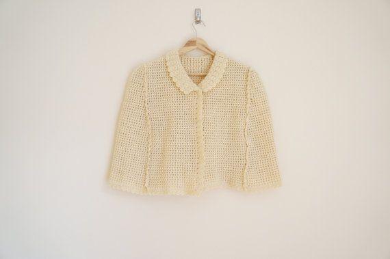 Vintage Wool Handmade Cape / Vintage by ValleyDollsVintage on Etsy