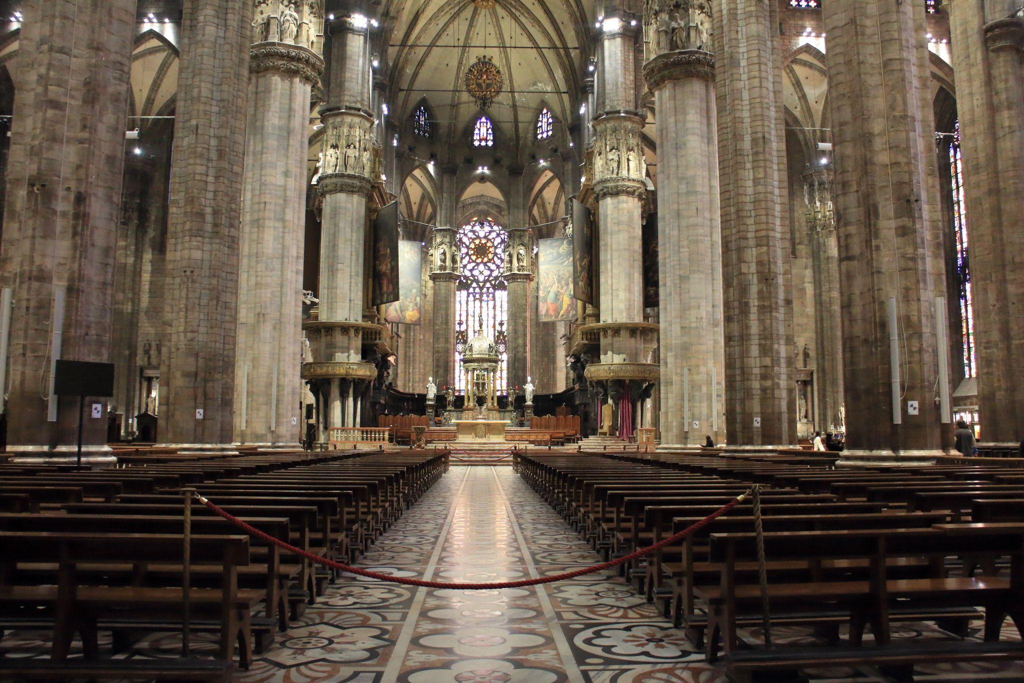 Catedral De Mil U00e3o Duomo Di Milano Interior Catedral