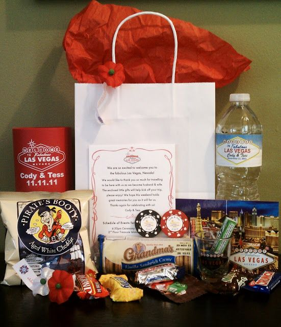 Gift Ideas For Destination Wedding: Las Vegas Wedding Guest Gift Bags - Google Search