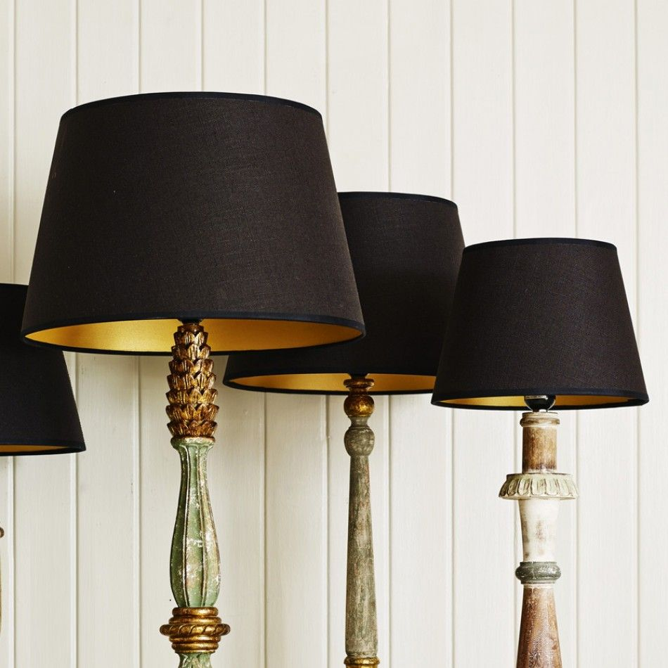black and gold retro lamp shades designfique product. Black Bedroom Furniture Sets. Home Design Ideas