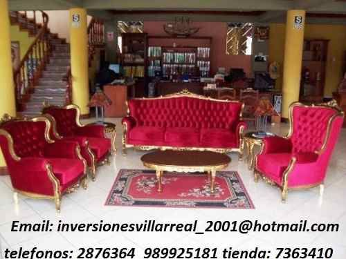 Muebles luis xv salas inversiones villarreal for Decoracion de interiores luis xv