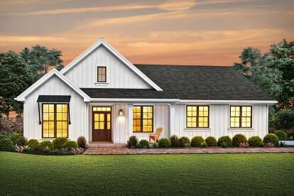 Modern Farmhouse House Plan 041