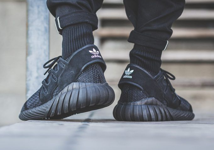 official photos 62f2e 31daf adidas Tubular Doom Primeknit Triple Black | outlets ...