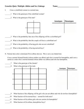 multiple alleles worksheet worksheets releaseboard free printable worksheets and activities. Black Bedroom Furniture Sets. Home Design Ideas
