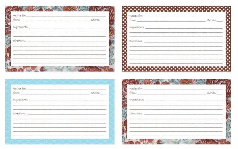 Download Compilation Of 3x5 Note Card Template Google Docs In 2021 Note Card Template Recipe Cards Template Printable Recipe Cards