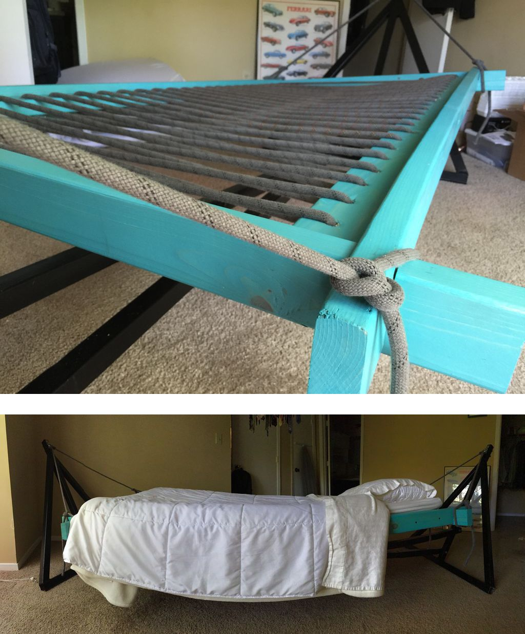 Hammock Bed Diy Home Hammock Bed Hammock In Bedroom Diy Hammock