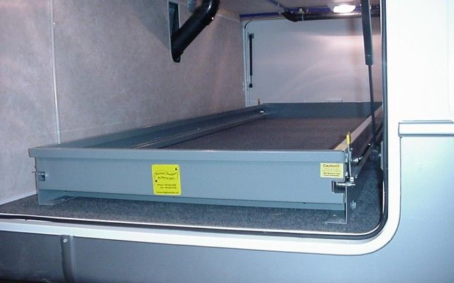 Heavy Duty 8 Foot Slide Out Tray In Stowed Position