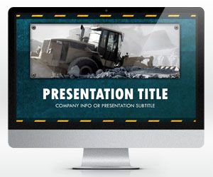 free widescreen template for presentations on construction, Powerpoint templates