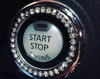 Photo of DIY Crystal Car Bling Ring Emblems, Interior Car Accessory For Buttons, Knobs, Rhinestone Car Decal