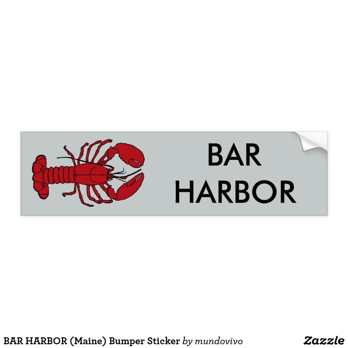Bar Harbor Maine Bumper Sticker Zazzle Com Bar Harbor Maine Bumper Stickers Bar Harbor [ 1106 x 1106 Pixel ]